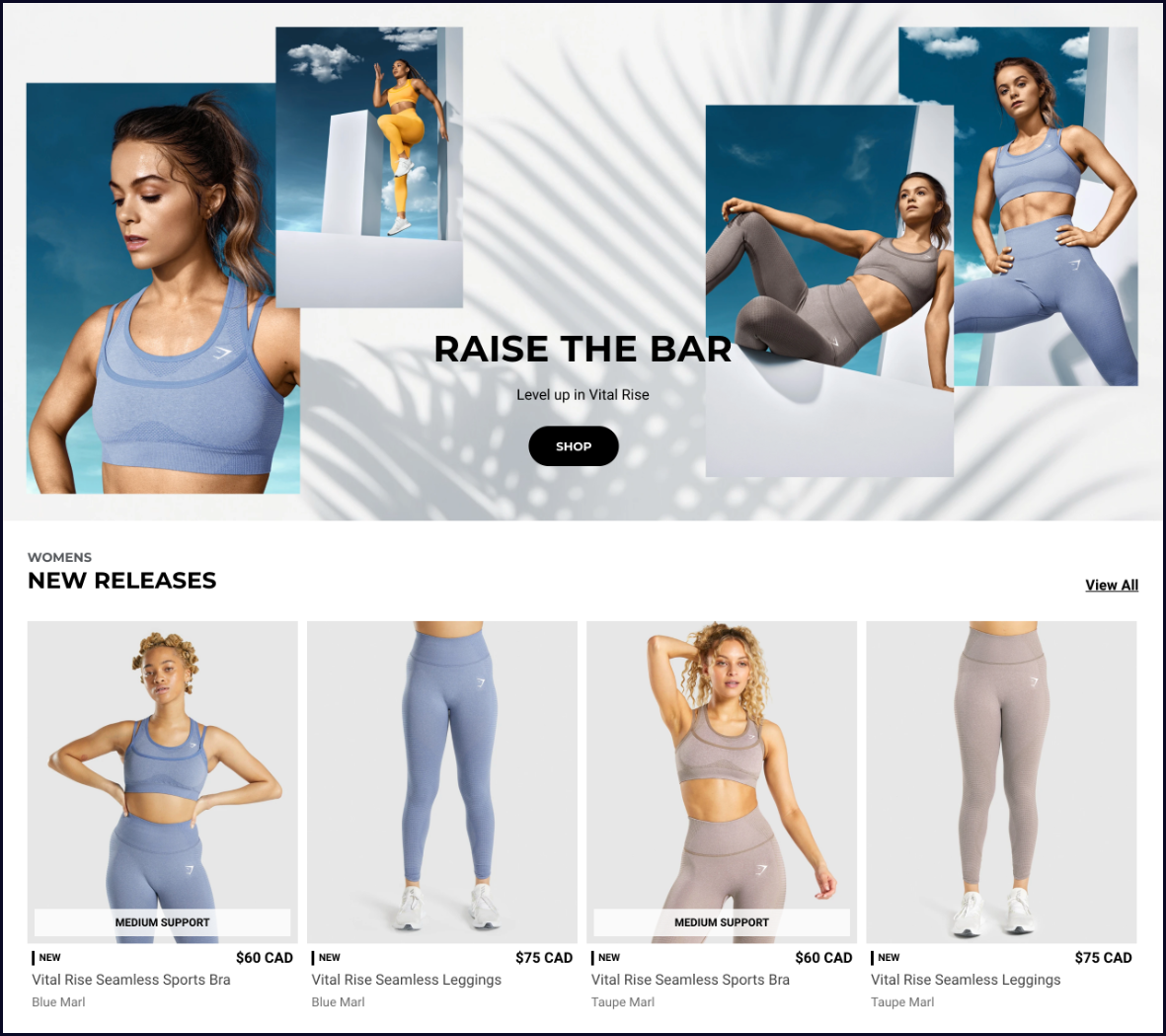 GymShark Privacy and Accessibility Shopify Plus