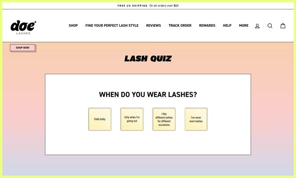Doe Lashes Personalized Buying Experience