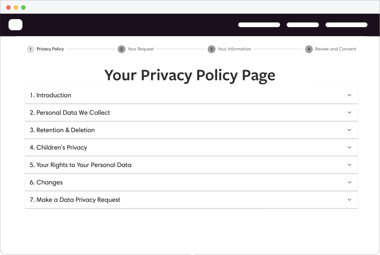 Privacy policy generator for Squarespace, Wix, Wordpress and more