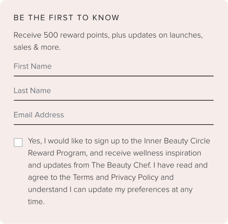 The Beauty Chef Email Opt-in