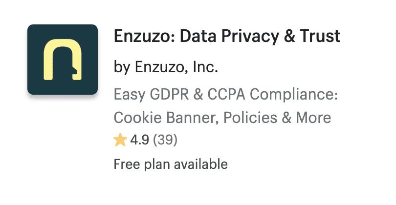 Enzuzo: Data Privacy & Trust