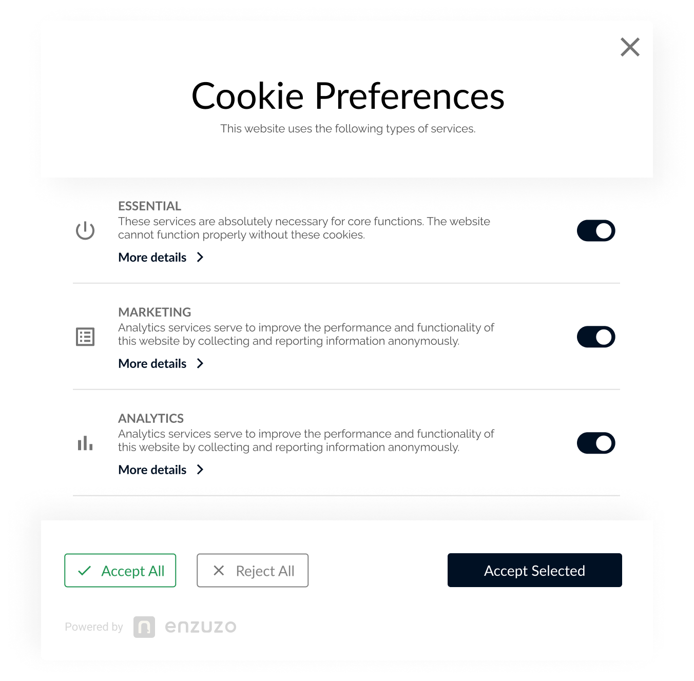 Enzuzo Cookie Manager